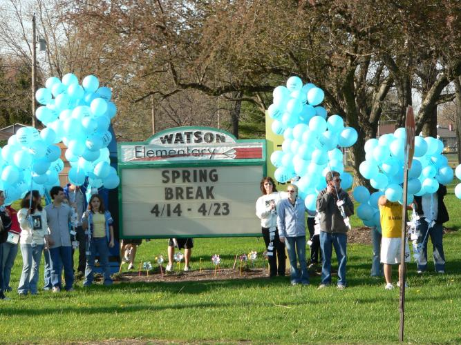 Justin's Balloon Walk- April 17,2006